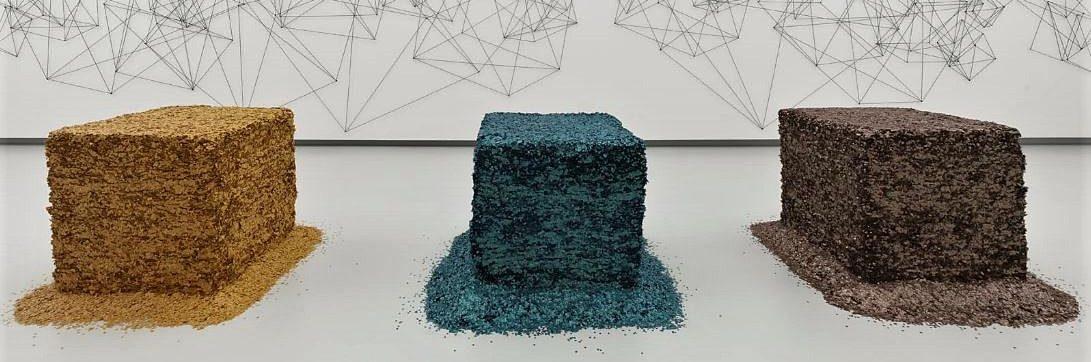 Blick in die Kunsthalle Tübingen. Foto: Roland Halbe. Für die Werke Heike Webers gilt (c) VG Bild-Kunst, Bonn 2018