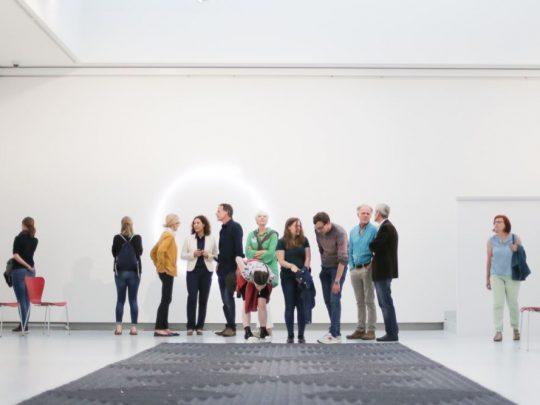 Direktorenführung in der Kunsthalle Tübingen. Foto: Wynrich Zlomke