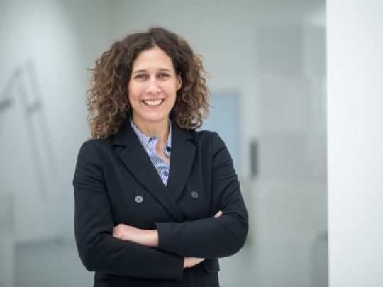Dr. Nicole Fritz, Direktorin der Kunsthalle Tübingen. Foto (Detail): Sebastian Gollnow