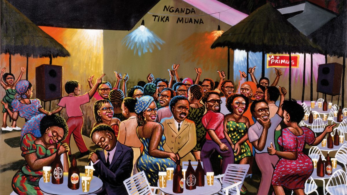 Moke Nganda Tika Muana, 1992 Öl auf Leinwand, 137 x 159,5 cm Collection Lucien Bilinelli, Bruxelles/Milan