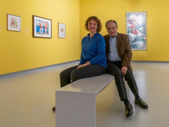 Die Pechstein-Enkel Julia und Max Pechstein in der Kunsthalle Tübingen. Foto: Ulrich Metz