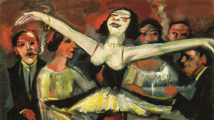 Max Pechstein Tänzerin in einer Bar, 1923/31 Öl auf Leinwand 90 x 90,5 cm Privatbesitz © 2019 Pechstein – Hamburg/Tökendorf