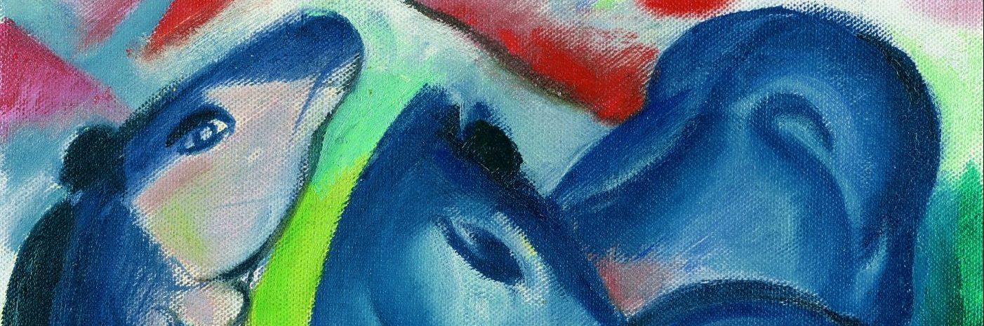 Franz Marc, Die Blauen Fohlen, Detail,1913 Kunsthalle Emden – Stiftung Henri Nannen und Schenkung Otto van de Loo Foto: Elke Walford, Fotowerkstatt Hamburger Kunsthalle