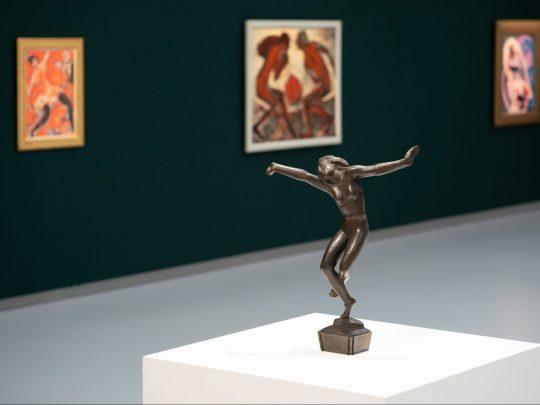 Blick in die Max-Pechstein-Ausstellung in der Kunsthalle Tübingen. Foto: Ulrich Metz