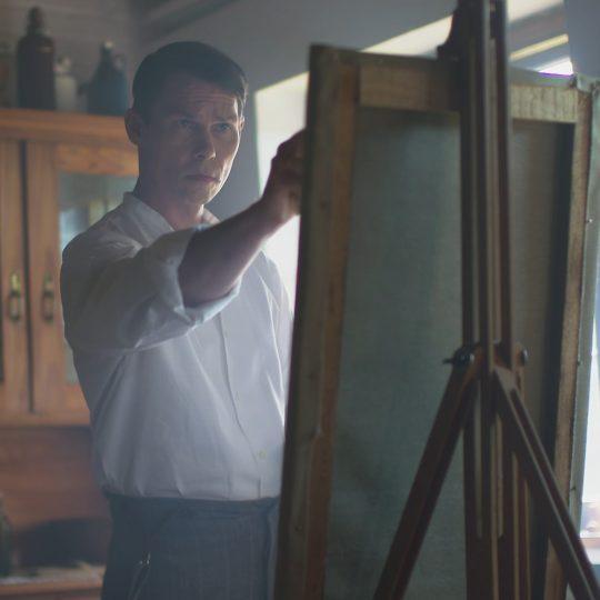 """Pechstein findet nach dem Ersten Weltkrieg zurück zum Malen, Filmstill (Detail) aus """"Max Pechstein. Geschichte eines Malers"""", © IDA Film"""
