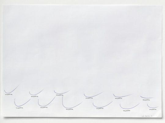 Karin Sander KS 2012 7, 2012 Kugelschreiber, Heftklammern, Papier 21 × 29,7 cm Courtesy of Esther Schipper, Berlin © Studio Karin Sander, VG Bild-Kunst, Bonn 2021
