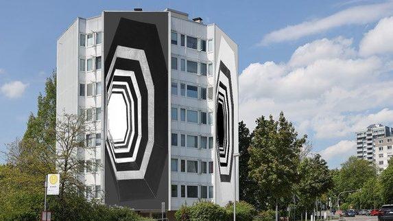 Entwurf von Annett Zinsmeister für das nächste AUSSER HAUS Projekt , für die Werke von Annett Zinsmeister gilt gilt: © Annett Zinsmeister, VG Bild-Kunst, Bonn 2021